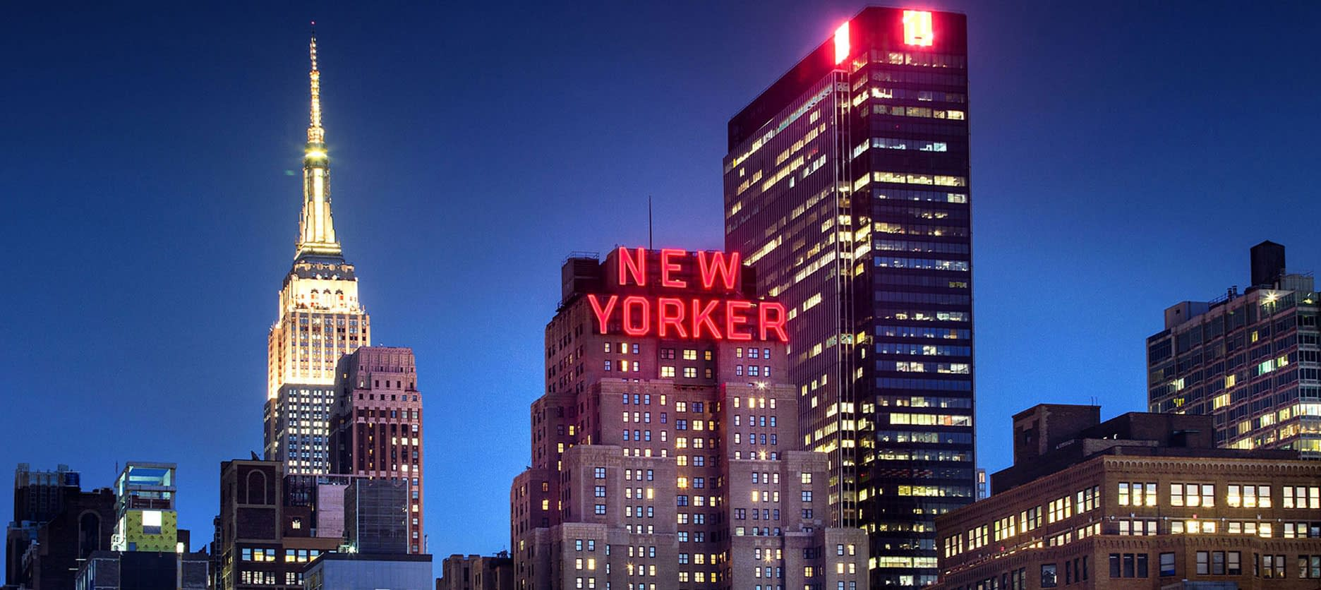 New Yorker Wyndham Hotel skyline