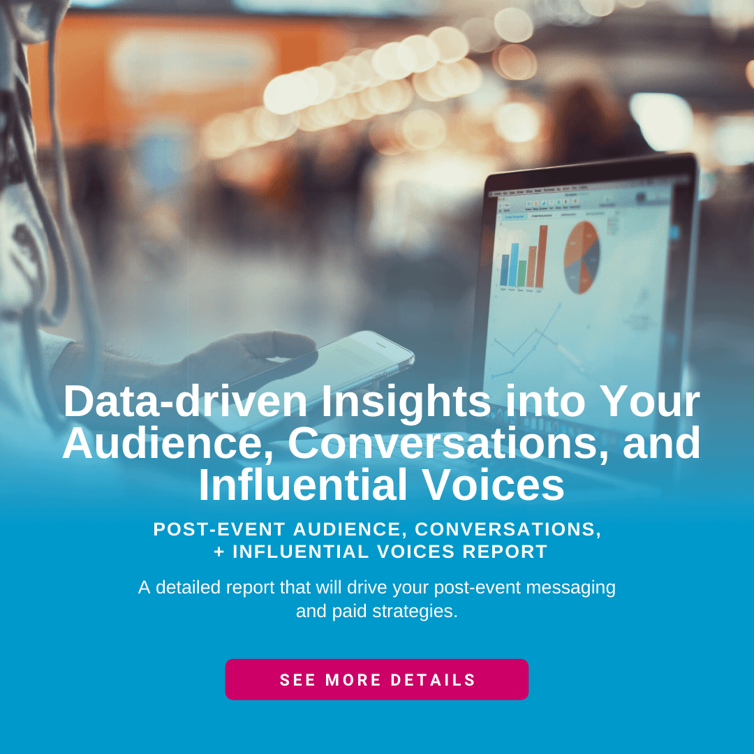 Get the audience insights you need to drive post-event strategy.